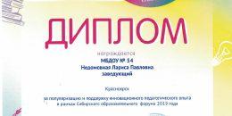 Диплом Сибирский образовательный форум 2019_0001