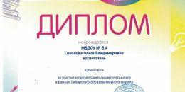 Дипломы СОФ 2019 Соколова