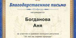 907 Богданова Аня