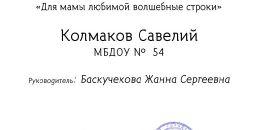 Колмаков Савелий